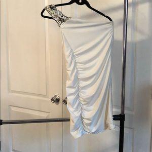 Cream one shoulder dress
